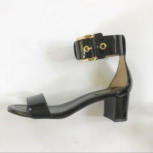 NEW Michael Kors Calder Black Patent Ankle Strap 7